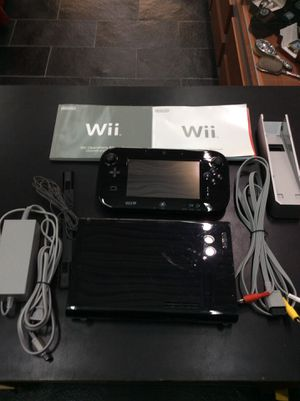 Nintendo Wii U Gaming Console 32GB Black for Sale in Boca Raton, FL