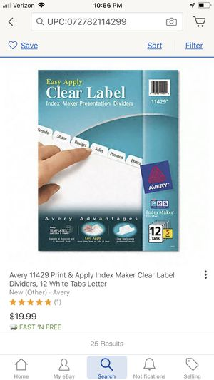 Dividers avery label printable for Sale in San Diego, CA