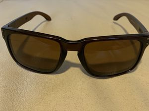 %100 Authentic Oakley Holbrook 55-18 137 (Polished Dark brown) Polarized 009102-03 New lenses On It. Condition is Pre-owned. Sorry no case! for Sale for sale  Brooklyn, NY
