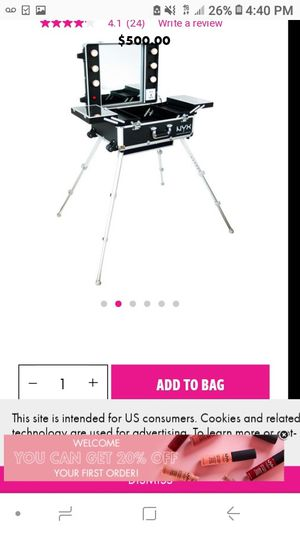 Portable makeup vanity with lights for Sale in San Mateo, CA