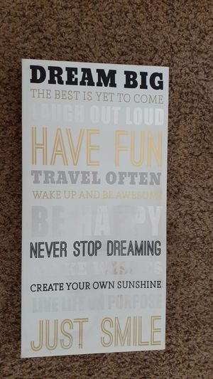 Dream Big Plaque for Sale in Cleveland, OH