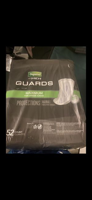 Men's Depends Guards new in pack!!! for Sale in Orlando, FL