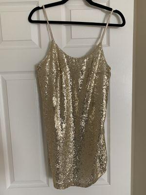 Gold sequin dress size small for Sale in Pennsauken Township, NJ