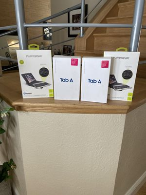 2 Brand New Samsung T387T Tablet / Keyboards for Sale in Greenwood Village, CO