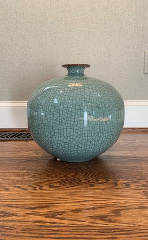 Washington Design Center blue-green ceramic vase for Sale in Potomac, MD