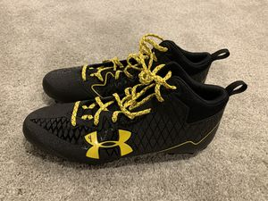 Black/yellow Under Armour cleats size 12 for Sale in Halethorpe, MD