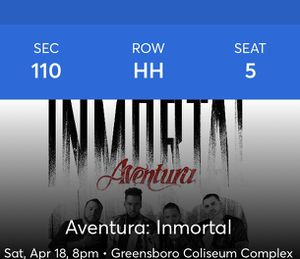 Aventura concert tickets (2 tickets) for Sale in Greensboro, NC