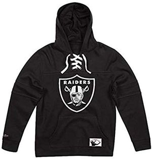 Embroidered Black Hockey Laced Raiders Hoody size L men for Sale in San Diego, CA