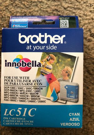 Inc cartridge Brother LC51C Cyan Ink Cartridge for Sale in Hudson, OH