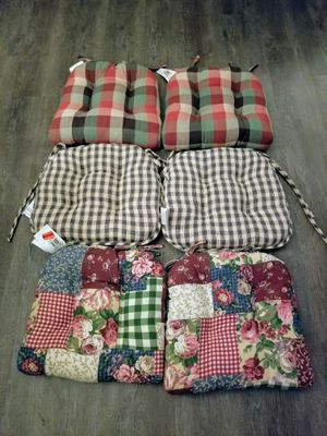 Chair Cushions. Like June's Online Consignment Shop on Facebook for Sale in Neenah, WI