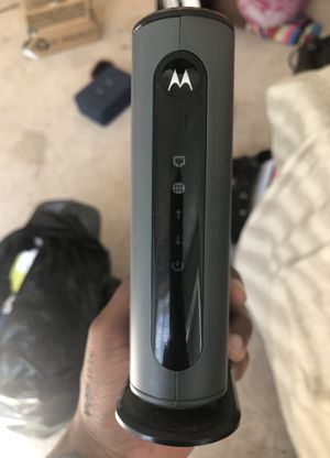 Motorola 3.0 Cable Modem and NetGear Router for Sale in Fort Washington, MD