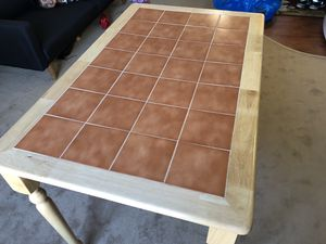 Wooden Table with Tile Top for Sale in Washington, DC