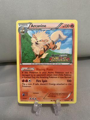 Arcanine B&W Next Destinies Promo Holo Pokemon Card for Sale in West Palm Beach, FL