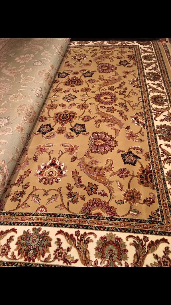 Brand new area rug size 8x11 nice tan beige carpet Persian style rugs