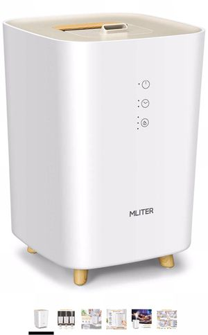MLITER Ultrasonic Cool Mist Humidifier, Superior Top Fill Humidifying Diffuser with 2.5L, Timer and 3 Adjustable Mist, Auto Shut-Off, Whisper-Quiet O for Sale in Powell, OH