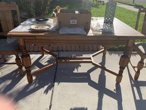 Antique Dining Room Table, 4 Chairs for Sale in Bradenton, FL