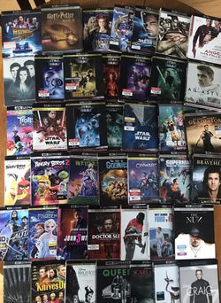 4k ultra Blu-ray Disney Marvel DC Harry Potter the Star Wars movies 3D Bluray and dvd collectors !!stay safe everybody!! for Sale in Everett,  WA