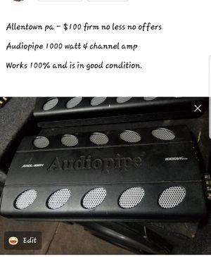 Audiopipe 1000 watt 4 channel amp for Sale in Allentown, PA