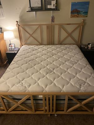 King Bed Frame & Mattress - Like New! for Sale in San Diego, CA