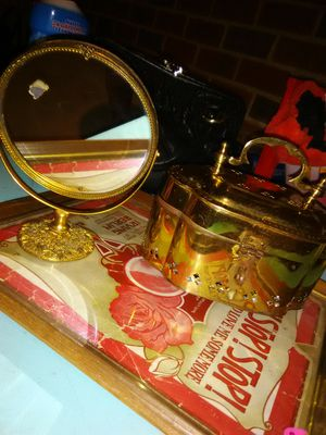 Cricket box and 18k gold gilded mirror antiques for Sale in Columbia, SC