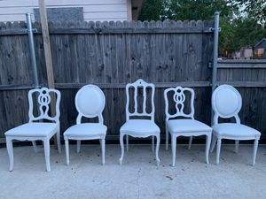white wooden chairs for Sale in Dallas, TX