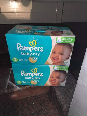 Size 3 Pampers diapers new for Sale in Queens, NY