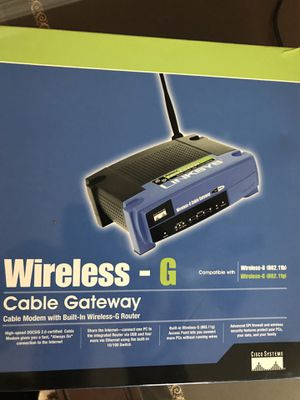 Linksys cable modem router for Sale in Collegeville, PA