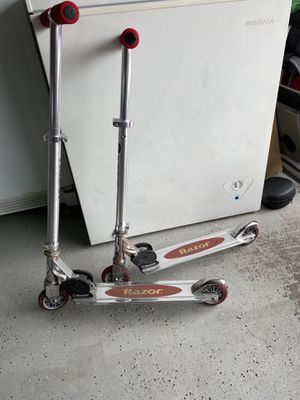 Two Razor Scooters Used $10 EACH for Sale in Cypress, CA