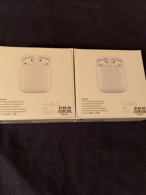 2 Apple AirPods Wireless Charging Case 2nd generation Authentic ($180 each) for Sale in Hayward, CA