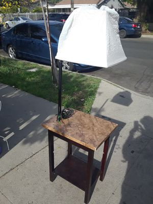 Table with lamp & shade for Sale in San Fernando, CA