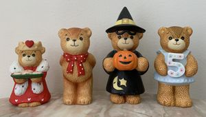 4 Pieces Porcelain Lucy & Me Bear Collection by ENESCO for Sale in Peachtree Corners, GA