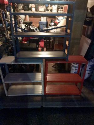 $25 each Metal storage shelves 3 of them (buy one or all 3) for Sale in Saddle Brook, NJ