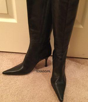 Aldo Black Leather Boots Size 37 for Sale in Phoenix, AZ