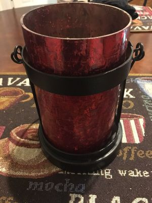 Red candle holder for Sale in Chandler, AZ