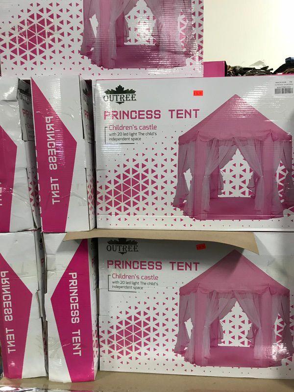 Cut tree princess tent