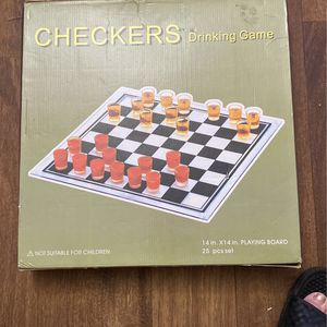 Glass Checkers Board Game for Sale in Las Vegas, NV