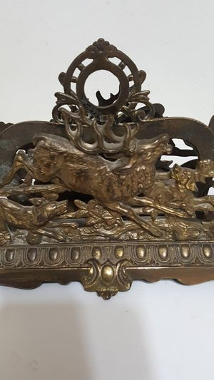 Antique Bradley & Hubbard Cast Iron, Brass Desk Caddy Letter Holder for Sale in Fontana, CA