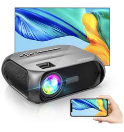 Wi-Fi Mini Outdoor Projector, Portable Projector for Outdoor Movies, Full HD 1080P Supported, Wireless Mirroring by WiFi / USB Cable, for iPhone / And for Sale in Hoboken,  NJ