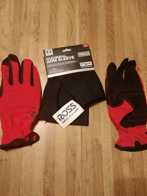 Baseball batting gloves and arm sleeve for Sale in Riverside, CA