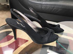 NINA satin black sling back heels!!! Like new! for Sale in Las Vegas, NV