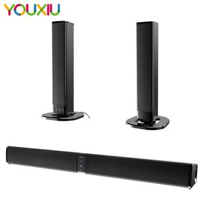 YX-BS36 20W Separable Soundbar Bluetooth Speakers Built-in Subwoofer 4.0 Channel 3D Surround Sound with Mic for home tv PC for Sale in Central City, CO