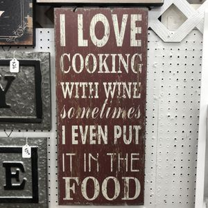 """Brand New Cooking with Wine Sign (Dimensions: 11.5""""x25.5"""") for Sale in North Las Vegas, NV"""