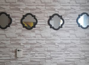 5pc. Black wall mirror set for Sale in Garrison, MD