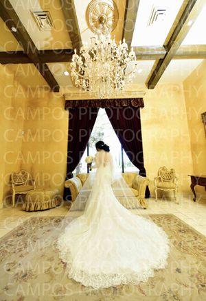 Designer cathedral wedding dress for Sale in Phoenix, AZ