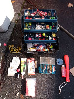 Fishing tackle and rod/reel for Sale in Federal Way, WA