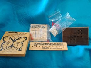 Assortment of IQ Wooden Puzzle Games for Sale in Victorville, CA
