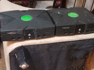 Set of 2 original xbox's. Untested, no cables, parts or repair, no returns, may work for Sale in Winter Haven, FL