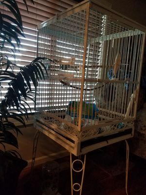 Bird Cage with wheeled stand for Sale in Vancouver, WA