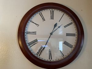 Huge wooden clock with Roman numerals for Sale in Tucson, AZ