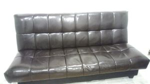 Leather convertible futon bed with storage for Sale in Mountainside, NJ